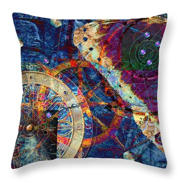 Throw Pillow featuring the digital art Geometria Sagrada by Kenneth Armand Johnson