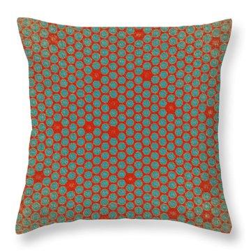 Throw Pillow featuring the digital art Geometric 2 by Bonnie Bruno