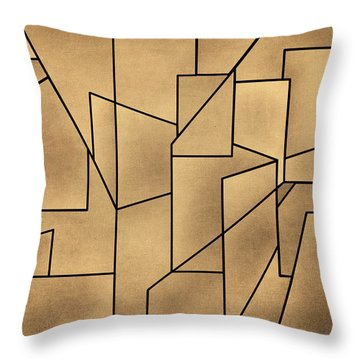 Geometric Abstraction IIi Toned Throw Pillow