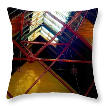 Geometric And Suns  Throw Pillow