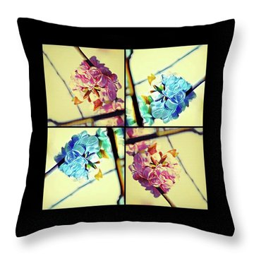 Geometric Blossoms Throw Pillow