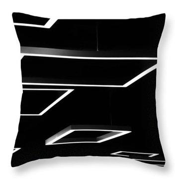 Geometric Light Fixtures At Waukesha State Bank Throw Pillow