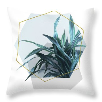 Geometric Jungle Throw Pillow