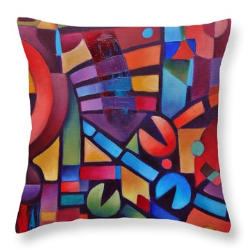 Geometric Music Throw Pillow