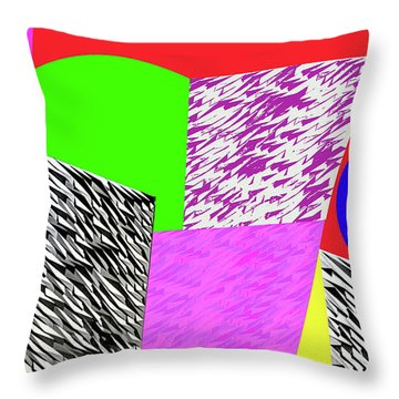 Geometric Shapes 1 Throw Pillow by Bruce Iorio