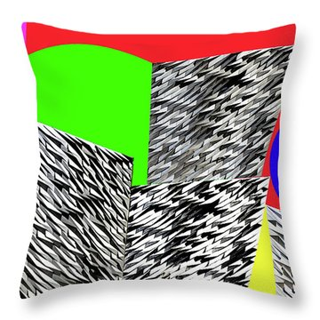 Geometric Shapes 3 Throw Pillow by Bruce Iorio