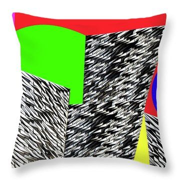 Geometric Shapes 4 Throw Pillow by Bruce Iorio