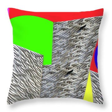Geometric Shapes Throw Pillow by Bruce Iorio