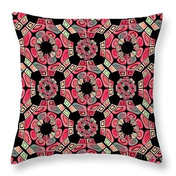 Geometric Tribal Pattern Throw Pillow by Gaspar Avila