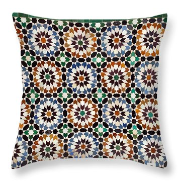Geometrical Ceramics Throw Pillow by Aivar Mikko