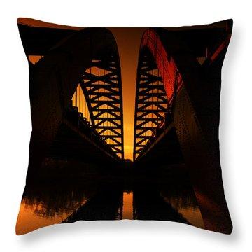 Geometry In Steel Throw Pillow