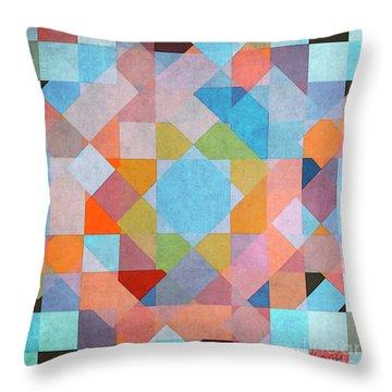 Throw Pillow featuring the digital art Geometry by Jutta Maria Pusl