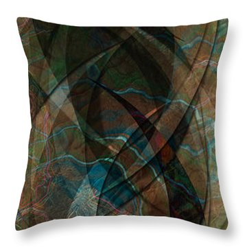 Throw Pillow featuring the digital art Geometry Of Chance IIi by Kenneth Armand Johnson