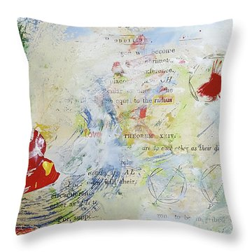 Geometry Of Desire Circles Throw Pillow by Ann Tracy