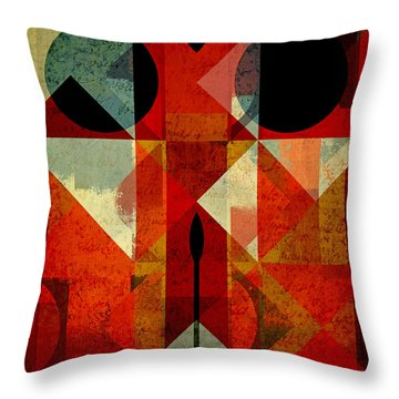 Geomix-04 - 39c3at22g Throw Pillow by Variance Collections