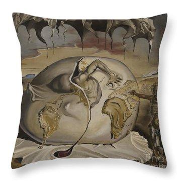 Dali's Geopolitical Child Throw Pillow