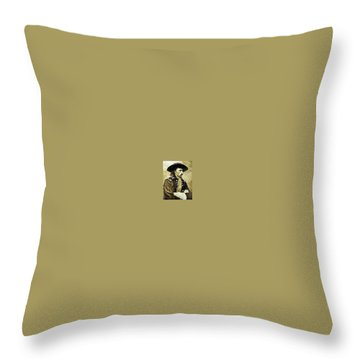 George Armstrong Custer Throw Pillow by Kevin Heaney