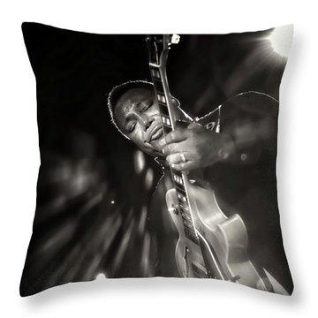 George Benson Black And White Throw Pillow
