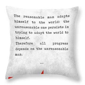 George Bernard Shaw Quotes - Man And Superman - Literary Quotes - Book Lover Gifts - Typewriter Art Throw Pillow