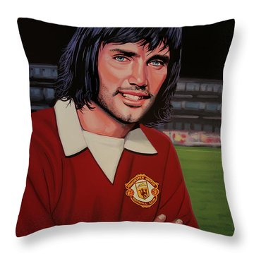 George Best Painting Throw Pillow