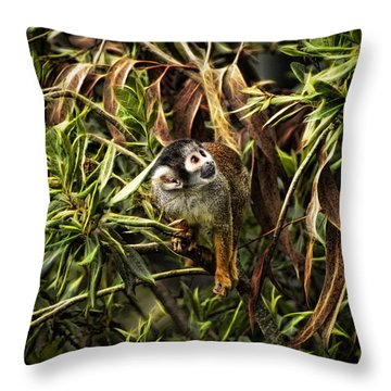 George Throw Pillow by Cameron Wood