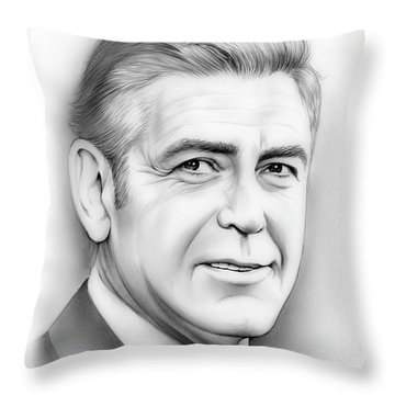 George Clooney Throw Pillow