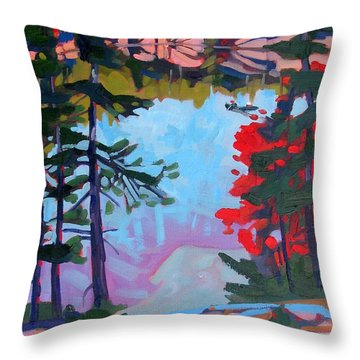 George Lake East Basin Throw Pillow