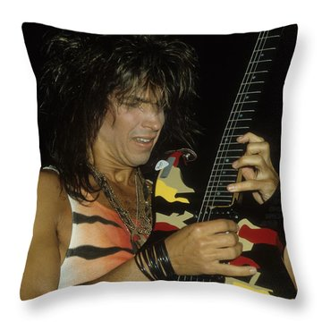 George Lynch Of Dokken Throw Pillow