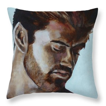 George Michael Throw Pillow