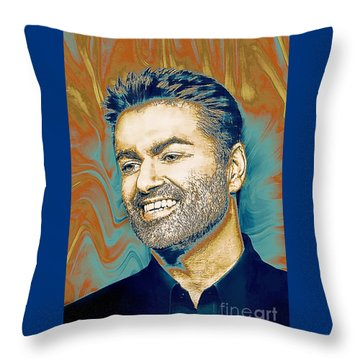 George Michael - Tribute  Throw Pillow