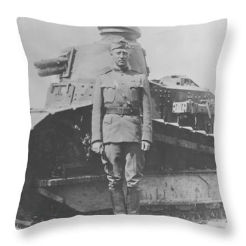 George S. Patton During World War One  Throw Pillow by War Is Hell Store