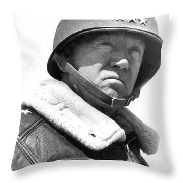 George S. Patton Unknown Date Throw Pillow by David Lee Guss