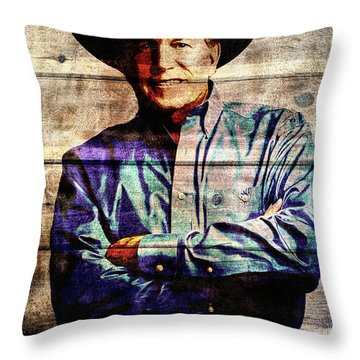 George Strait Throw Pillow