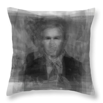 George W. Bush Throw Pillow by Steve Socha