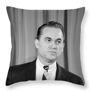 George Wallace - February 8, 1968 Throw Pillow