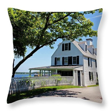 George Walton House In Newcastle Throw Pillow
