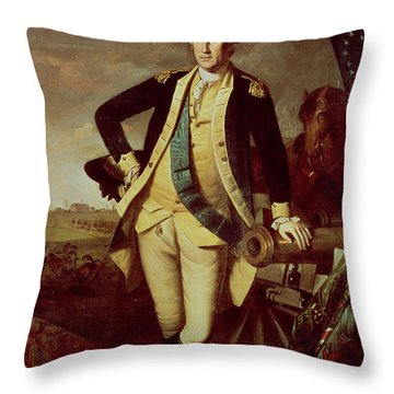 George Washington At Princeton Throw Pillow