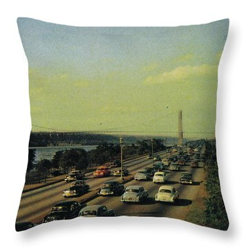 Throw Pillow featuring the photograph George Washington Bridge  by Cole Thompson