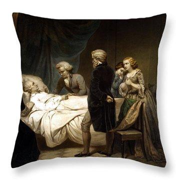 George Washington On His Deathbed Throw Pillow
