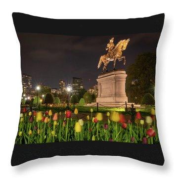 George Washington Standing Guard Throw Pillow