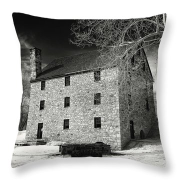 George Washingtons Gristmill Throw Pillow by Paul Seymour