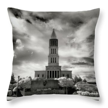 George Washinton Masonic Memorial Throw Pillow by Paul Seymour