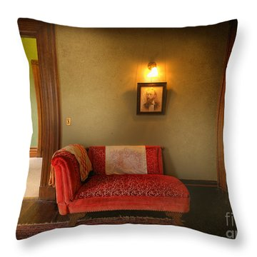 George's Red Sofa Throw Pillow