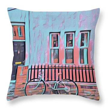 Georgetown Cycle Throw Pillow