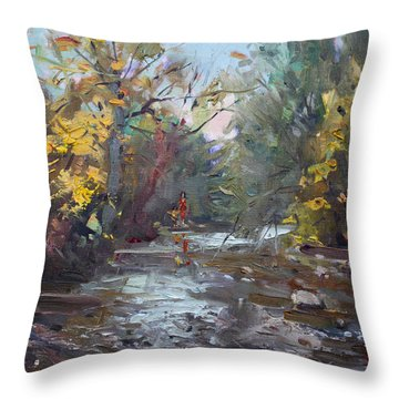Georgetown Fall Colors Throw Pillow