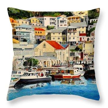 Georgetown Harbor, Grenada Throw Pillow
