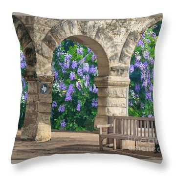 Wisteria In Georgetown, Texas  Throw Pillow