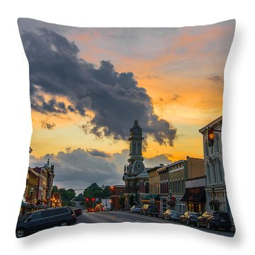 Georgetown Ky Summer Evening Throw Pillow