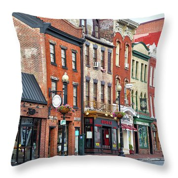 Georgetown Throw Pillow by Mitch Cat