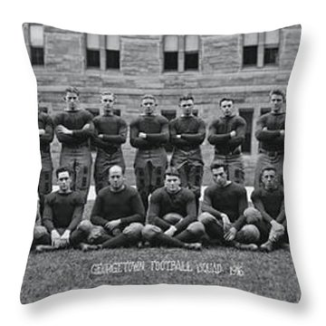 Georgetown U Football Squad Throw Pillow by Panoramic Images
